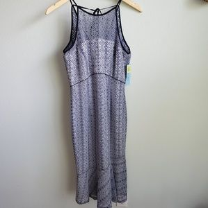 Antonio Melani blue lace midi dress 2